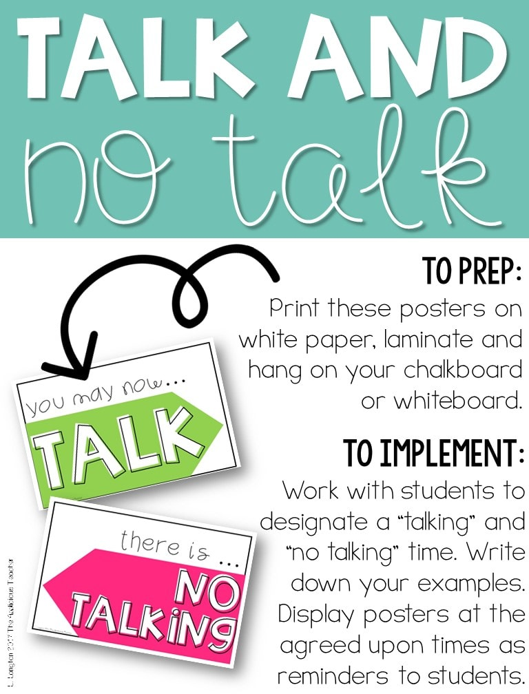 signs to show when to talk and when not to talk
