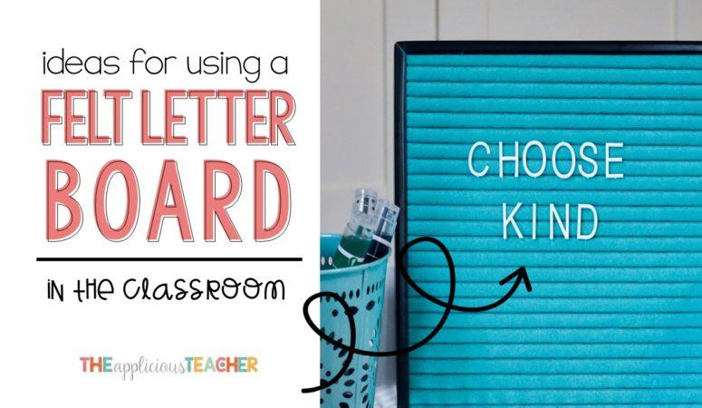 Felt Letter Board in the Classroom