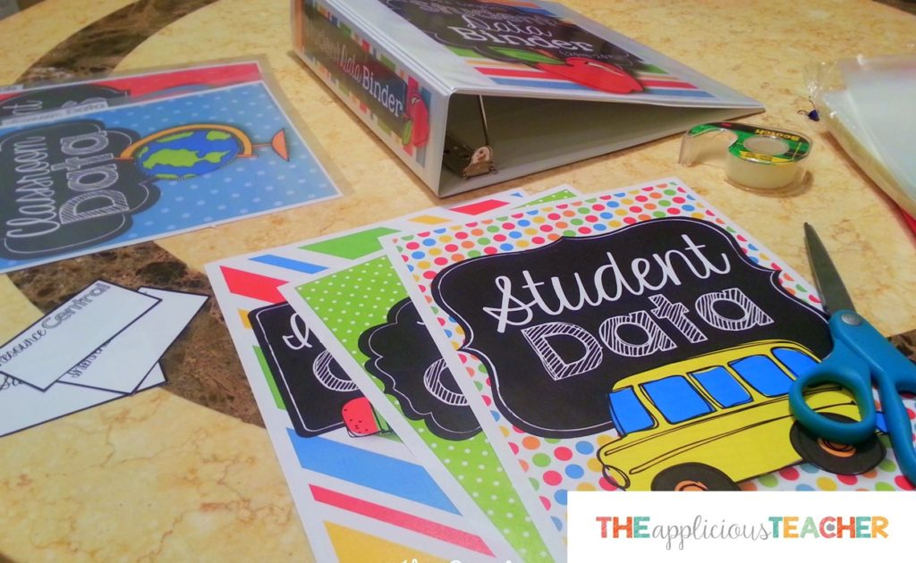 Student Data Binder- perfect for keeping all your student data organized and ready all year