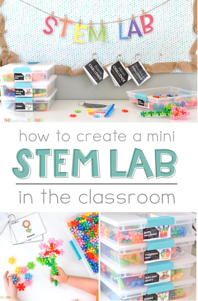 How to make a mini STEM Lab in your classroom! Watch the magic unfold in this easy to set up space! TheAppliciousTeacher.com