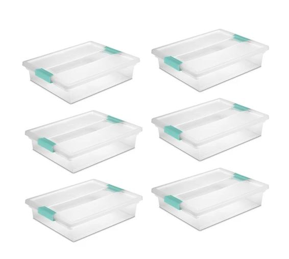 Sterilite Clip top bins for Mini Classroom Stem Lab manipulatives