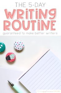 The EASY 5 Day Writing Routine that is Guarenteed to produce better writers! Includes a free writing lesson plan template TheAppliciousTeacher.com