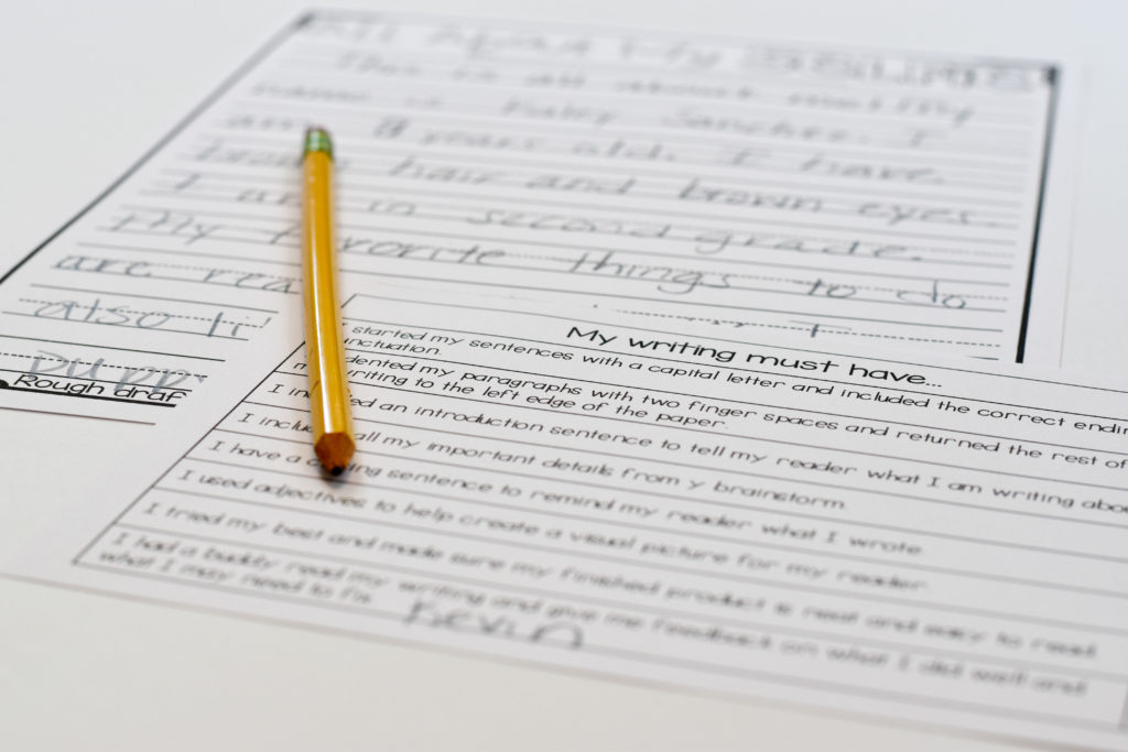 Use a rubric to help guide students what their writing should include.