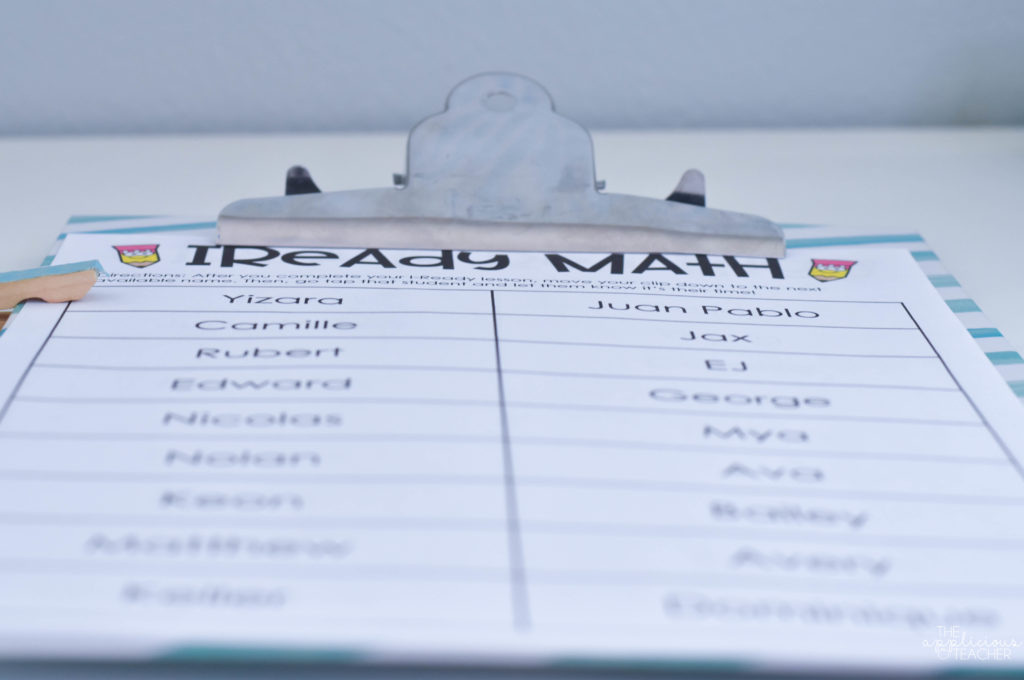 I-Ready checklist and tracker
