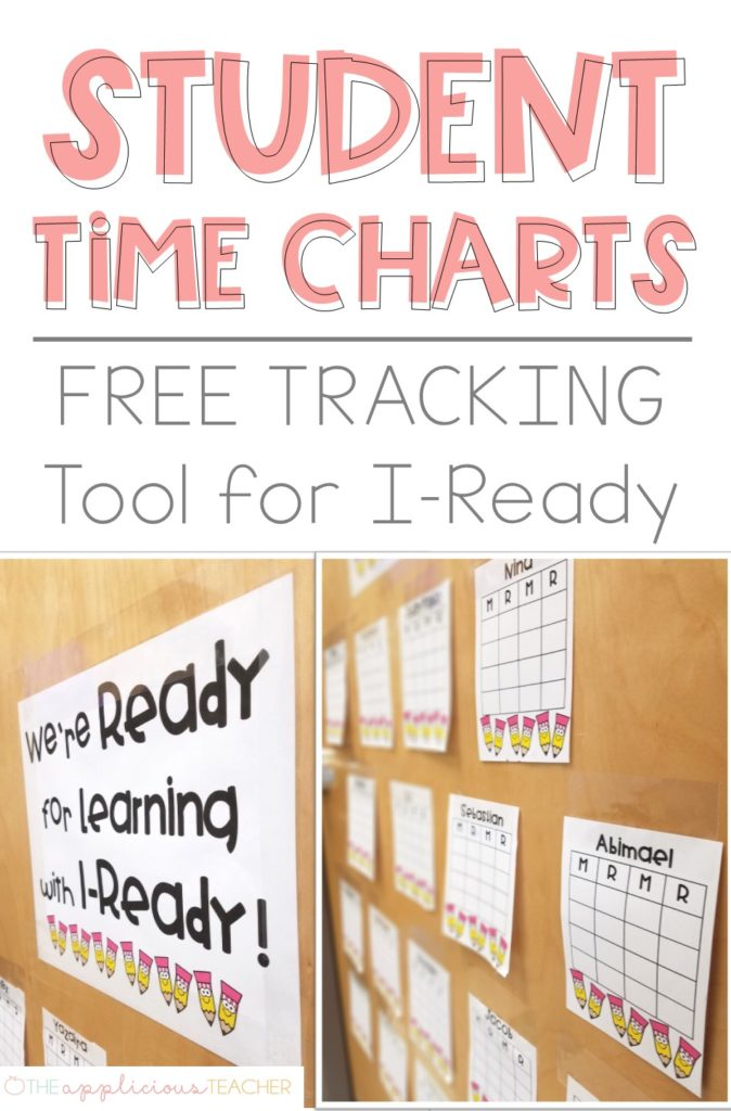 IReady Time Tracker Sticker Chart- struggling to meet your time requirements for I-Ready- snag this FREE sticker tracker system for your class! TheApliciousTeacher.com