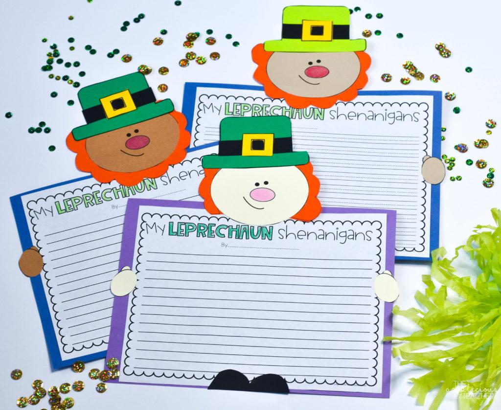 Leprechaun writing perfect for st. patrick's day -theappliciousteacher.com