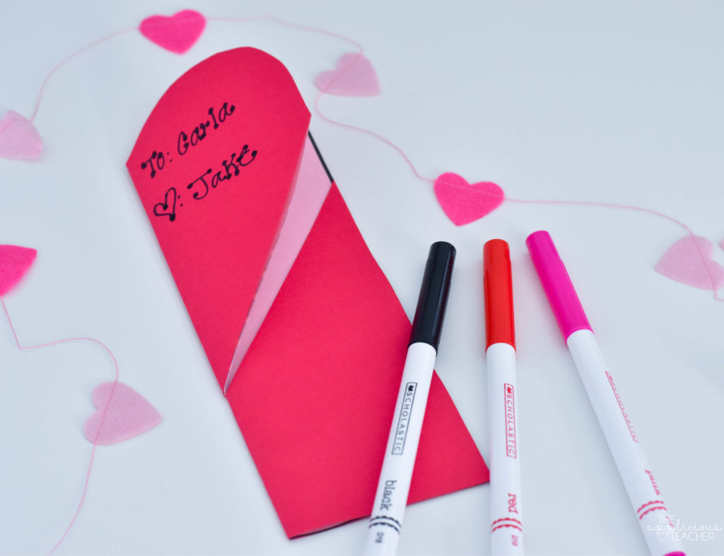 outside of hidden heart bookmark
