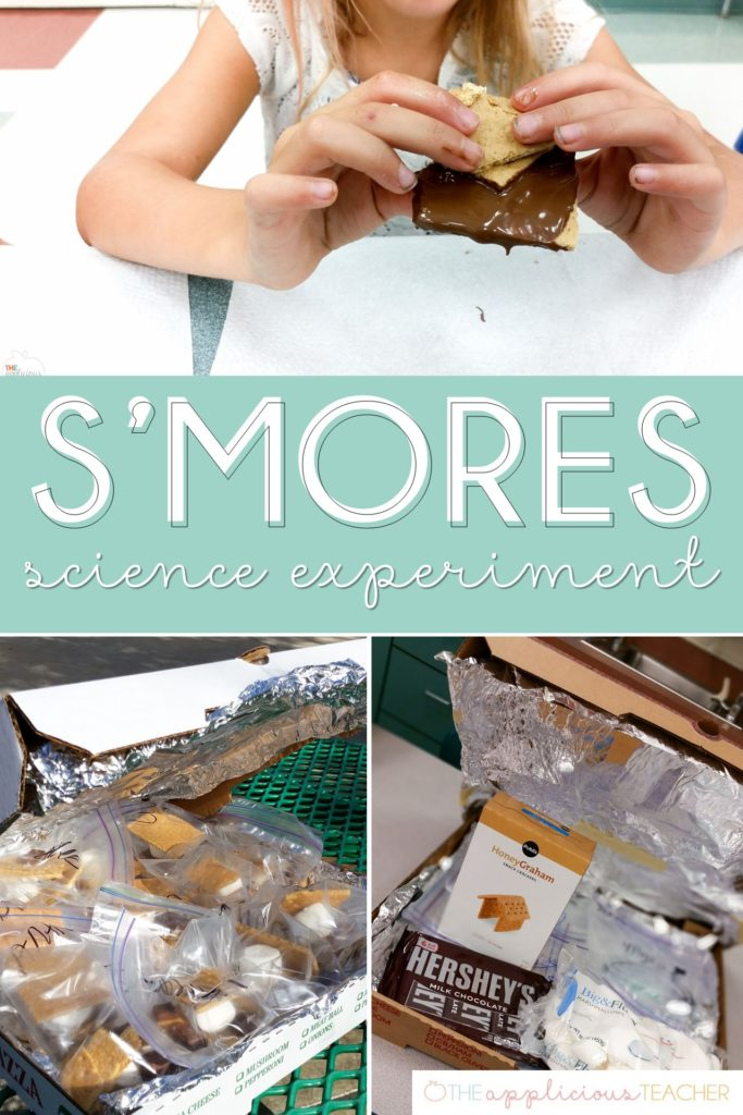 S'Mores science experiment- great experiment for discovering how the sun's energy can heat up the earth- TheAppliciousTeacher.com #scienceexperiment #2ndgrade #2ndgradescience
