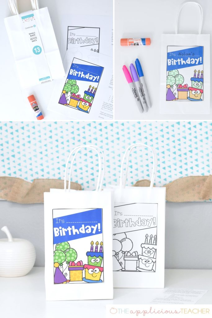 Birthday Bags: An Alternative to Cupcakes in the classroom #birthday TheAppliciousTeacher.com #classroombirthday