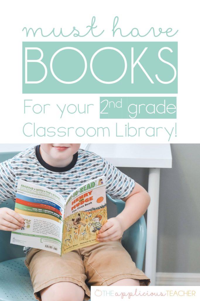 Perfect list for beginning chapter books for 2nd grade- TheAppliciousTeacher.com #2ndgrade #classroom