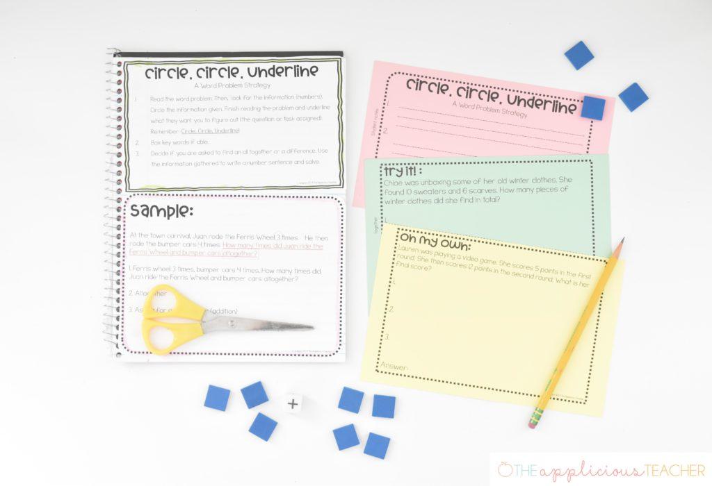 word problem strategy math isn