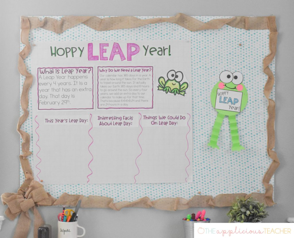 leap year leap day anchor chart