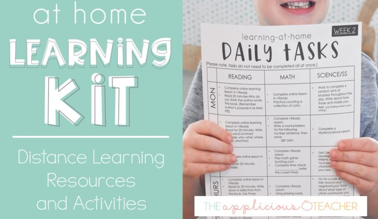 Learning at Home Kit: Planning for Distance Learning Made Easy