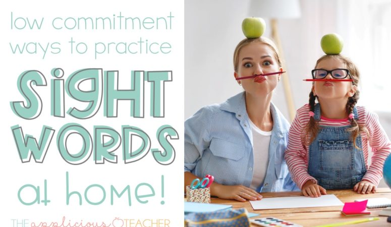 Easy Peasy Ways to Practice Sight Words at Home