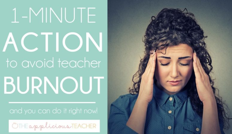 One Simple Way to Avoid Teacher Burnout