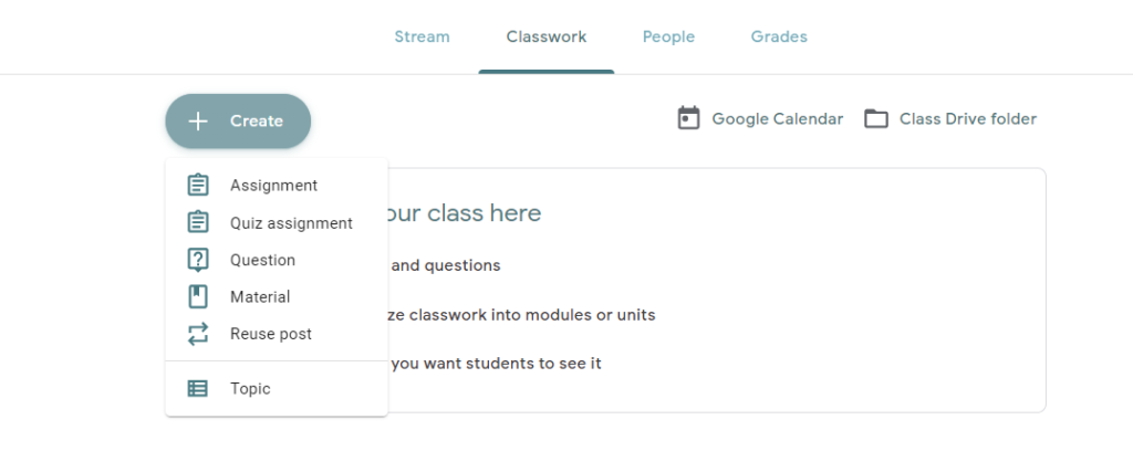 how to assign question in google classroom