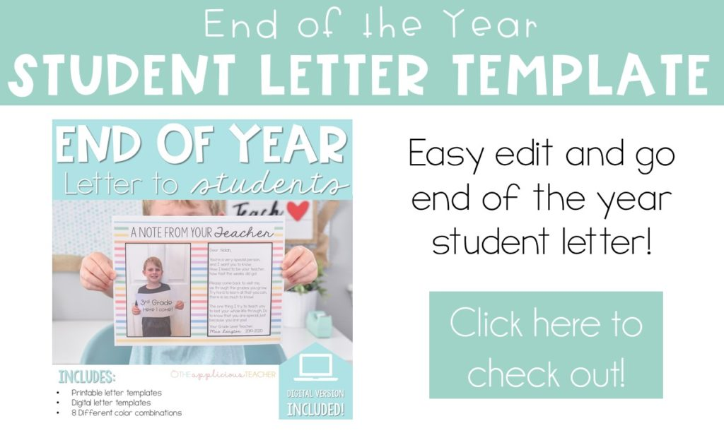end of year student letter