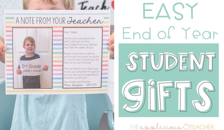 Easy End of Year Student Letter Gifts