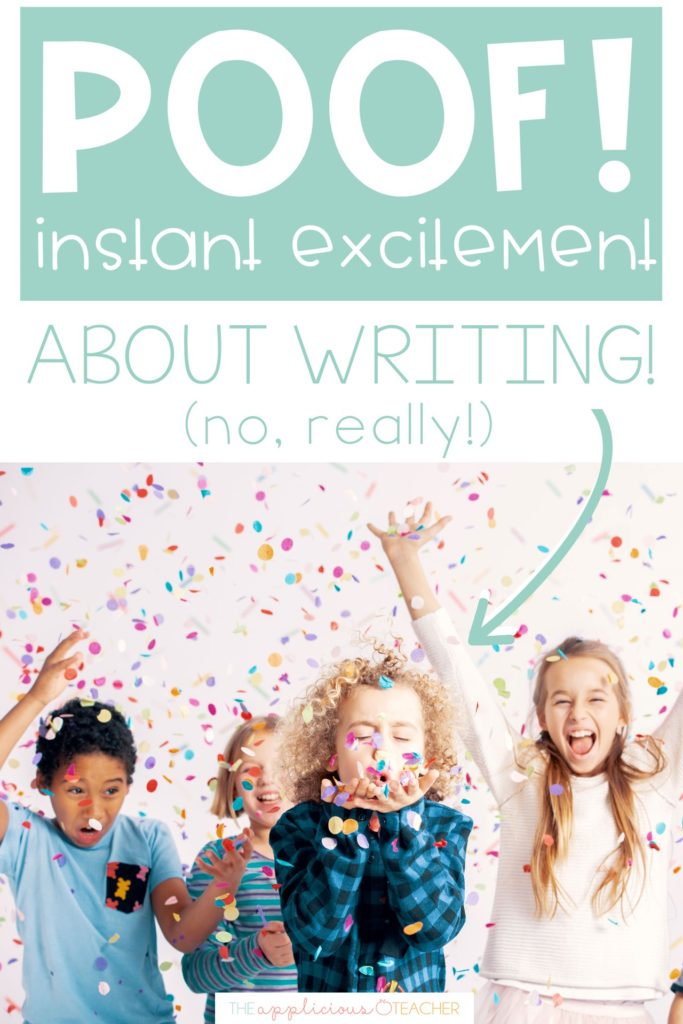 excited about writing