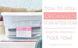 teacher bins for staying organized through out the school year