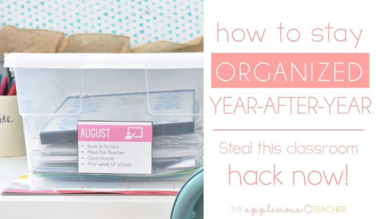 The Secret to Staying Organized Year After Year? Teaching Bins