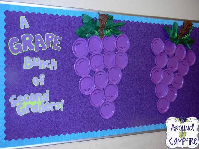 A Grape Bunch of 2nd Graders Bulletin Board