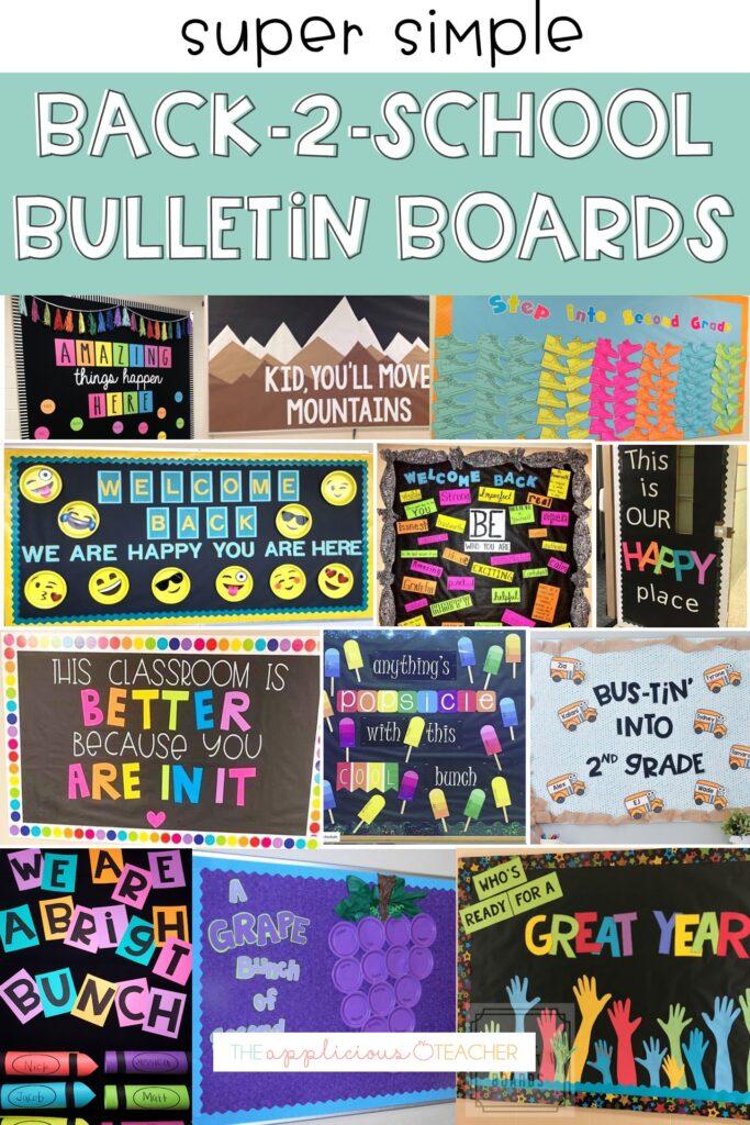 simple back to school bulletin board ideas