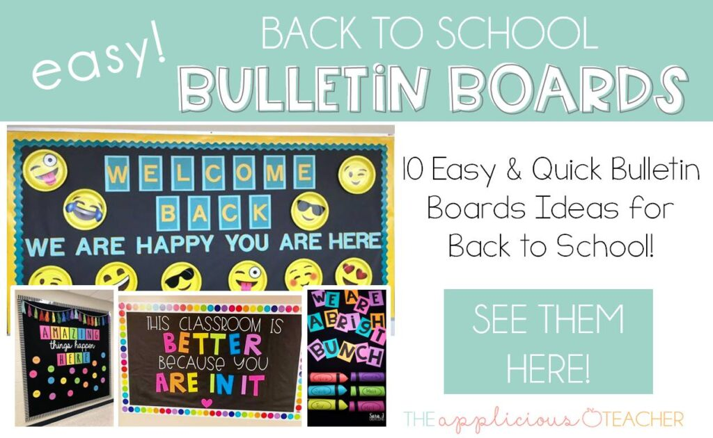 10 Easy Bulletin Boards for Back to School