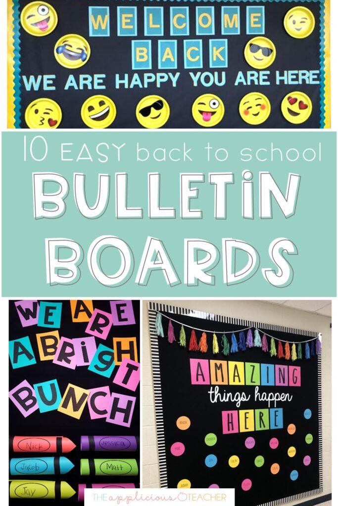 simple back to school bulletin boards
