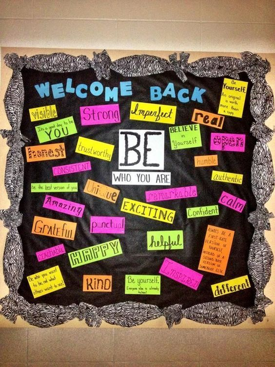 be who you are bulletin board