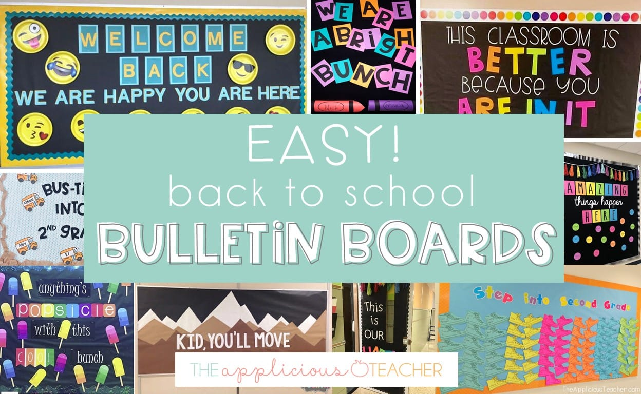 easy back to school bulletin boards