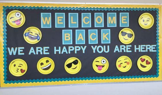 emoji back to school bulletin board