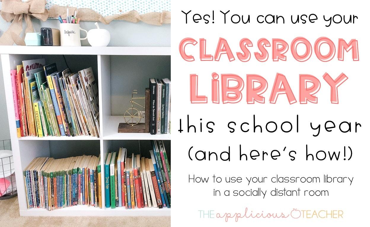 socially distant classroom library