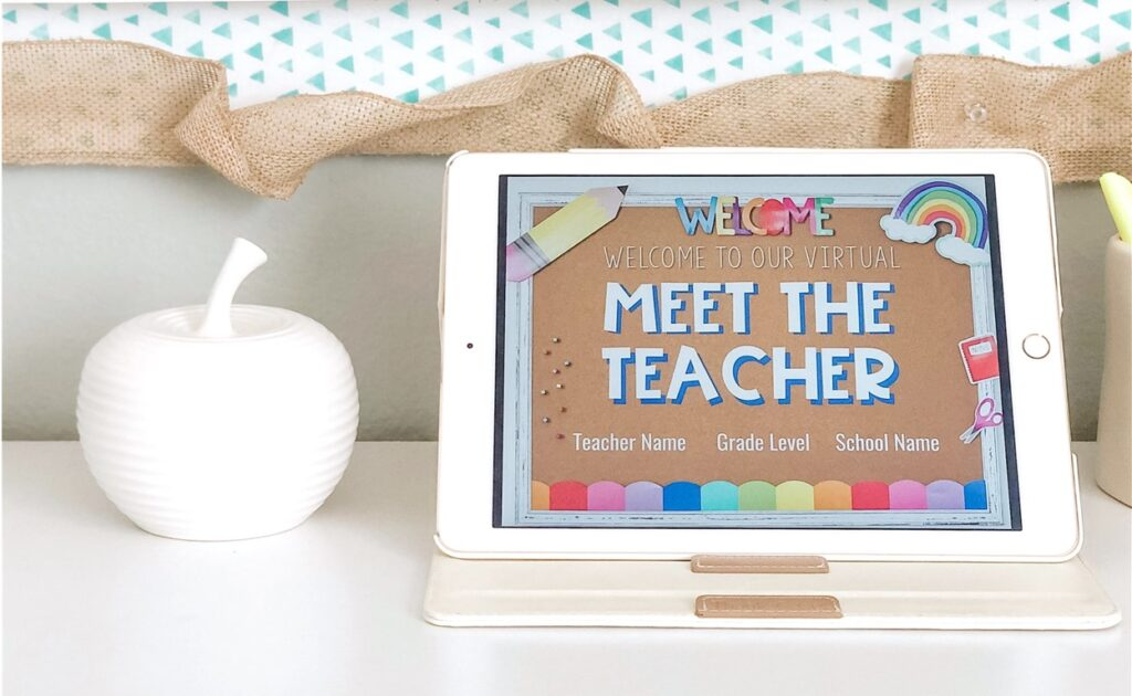 online meet the teacher slideshow