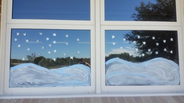 Snow Window Paint
