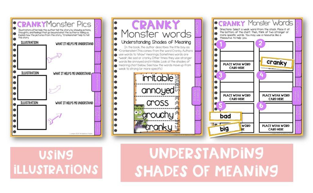 digital crankenstein reading activities