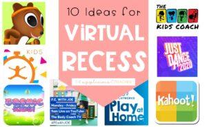 virtual recess ideas