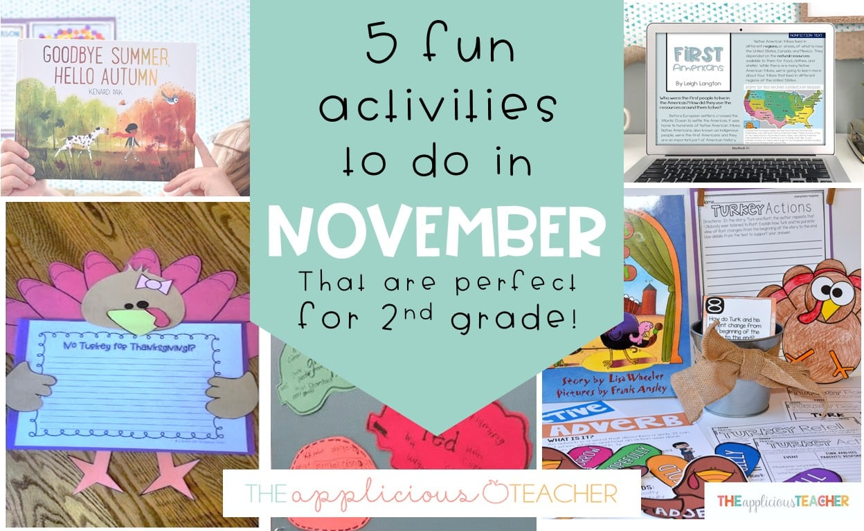 activity ideas for 2nd grade