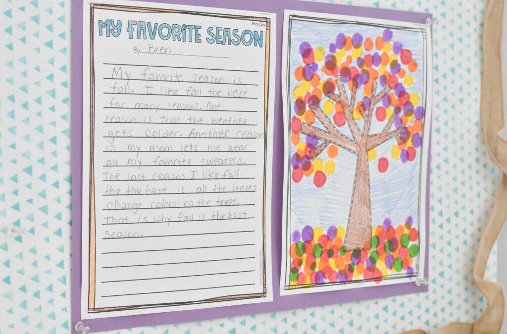 my favorite season activity