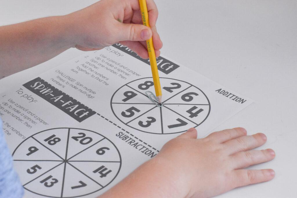 easy spinner review grames 2nd grade