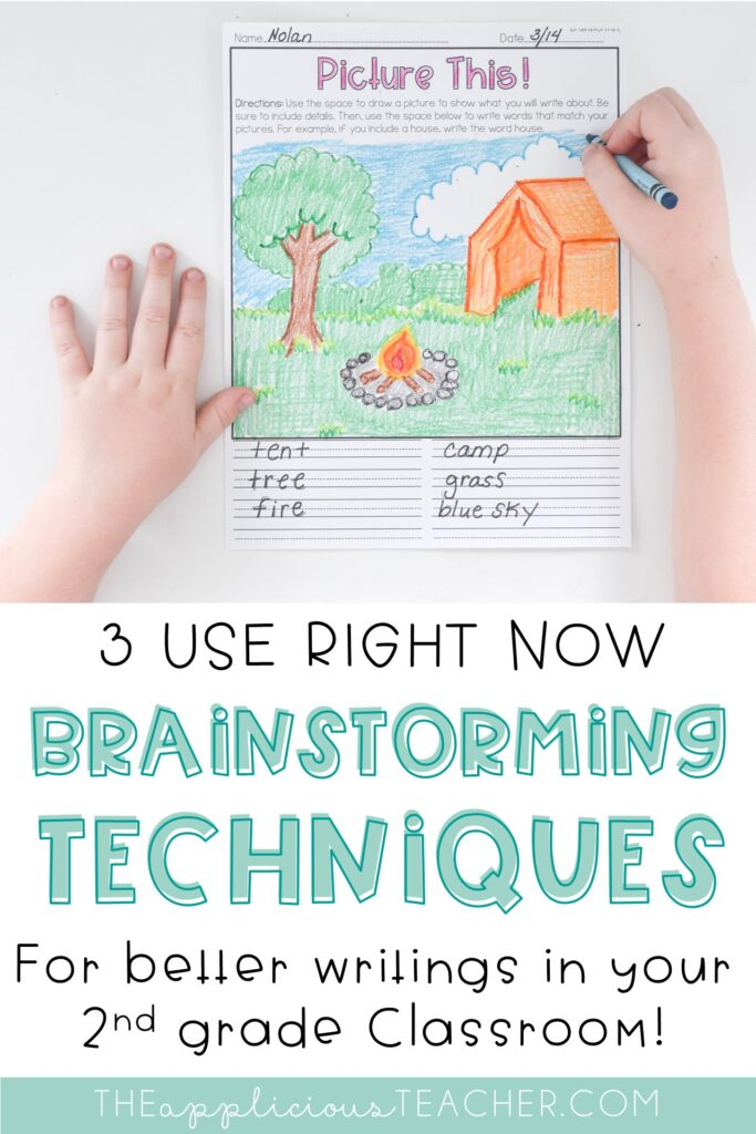 writing brainstorming techniques for 2nd grade