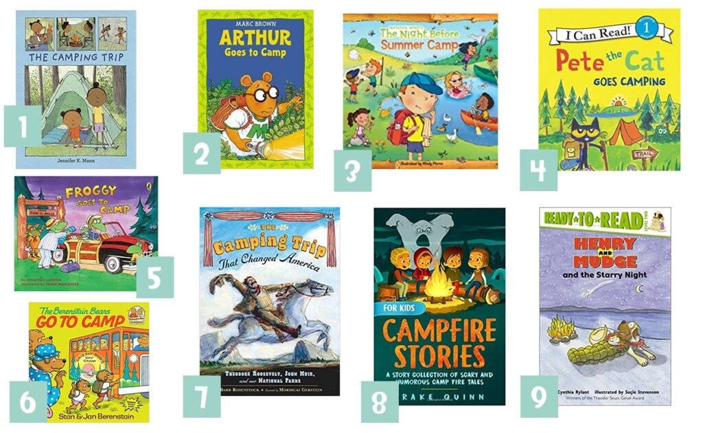 camping themed books 2nd grade
