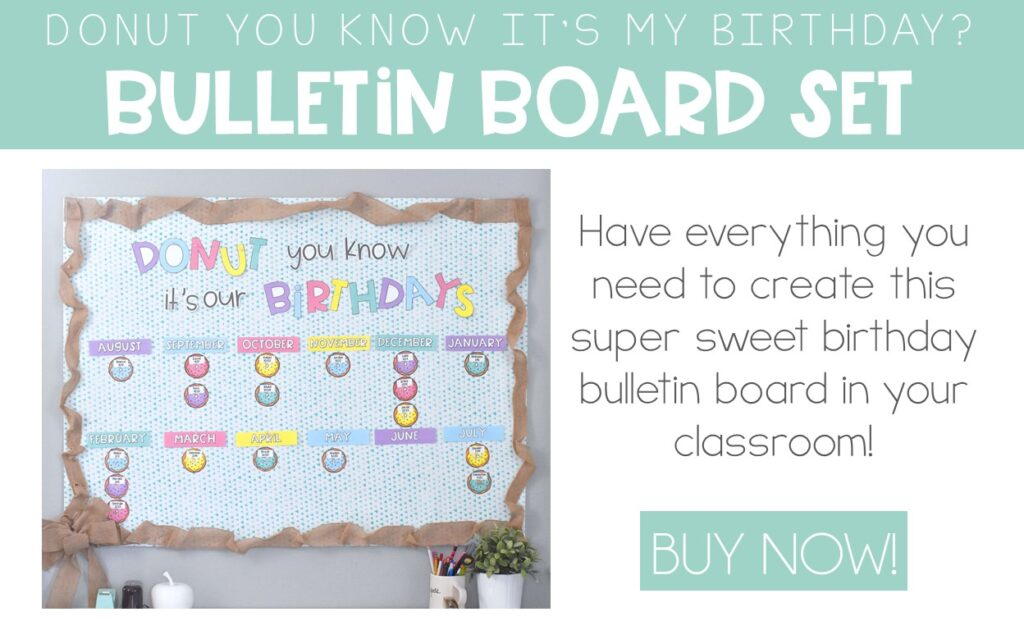 easy birthday bulletin board idea