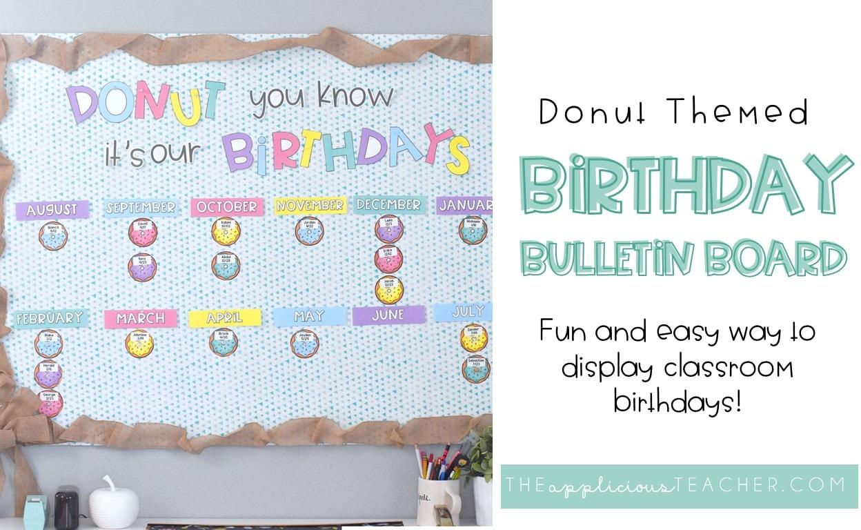 donut bulletin board