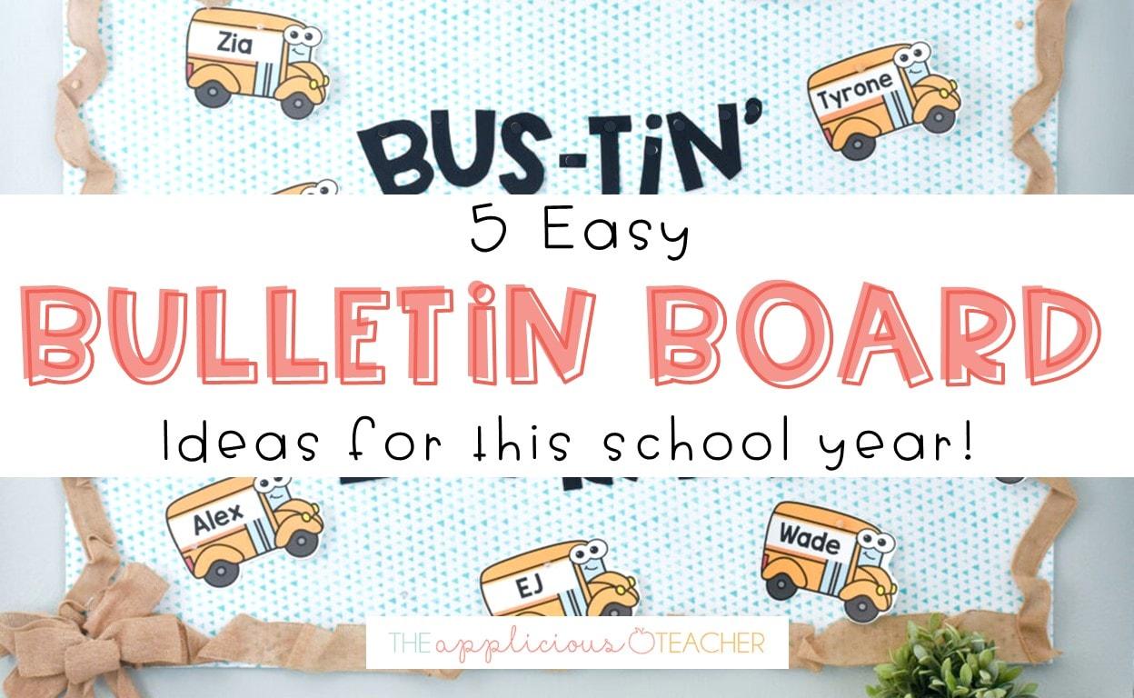 5 bulletin board ideas